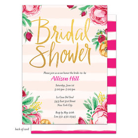Bonnie Marcus Collection Personalized Fabulous Floral Invitation