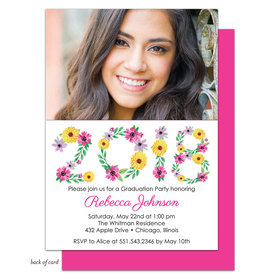 Bonnie Marcus Collection Personalized Floral Grad Invitation