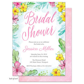 Bonnie Marcus Collection Personalized Bridal Shower Bright Floral Invitation