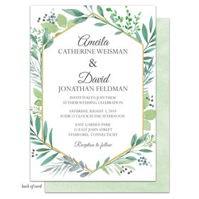 Bonnie Marcus Collection Personalized Bridal Shower Fern Ceremony Invitation
