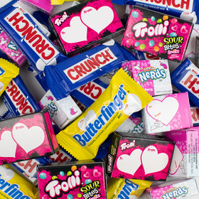 Valentine's Exchange Bag - Crunch, Butterfinger, Nerds, and Sour Brite Bites 36 Count Bag