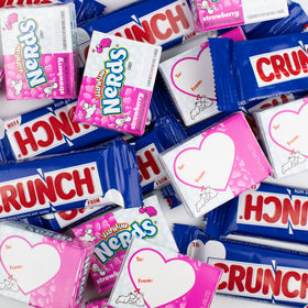 Valentine's Nerds and Crunch Fun Size - 8oz Bag