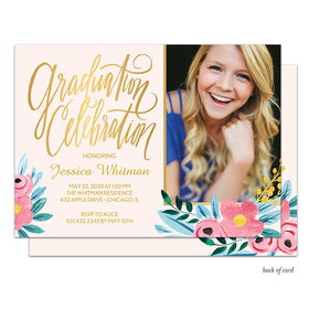 Bonnie Marcus Collection Personalized Floral Whimsy Graduation Invitation