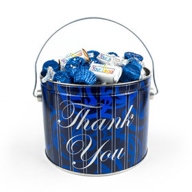 Personalized Add Your Logo Thank You True Blue Gift Tin 3.5 lb Hershey's Mix Tin