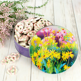 Easter Sunset Garden Tin with Spring Yogurt Pretzels (1lb approx 80 pcs)
