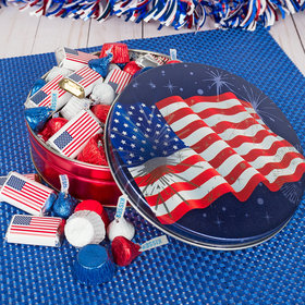 Independence Day Fireworks Tin 1 lb Hershey's Mix