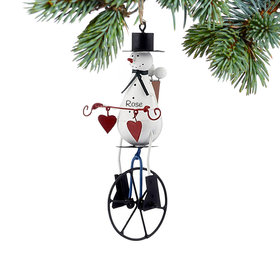 Personalized Snowman on Unicycle