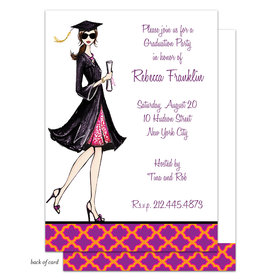 Bonnie Marcus Collection Personalized Gorgeous Grad - Brunette Invitation