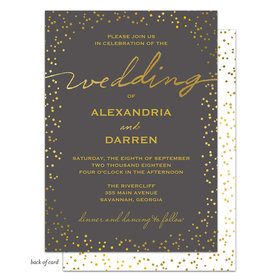 Bonnie Marcus Collection Personalized Gorgeous Gold Confetti Invitation