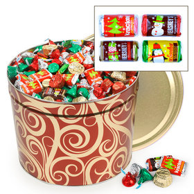Golden Swirls 14lb Hershey's Holiday Mix Tin