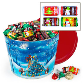 Merry Penguins 10 lb Hershey's Holiday Mix Tin