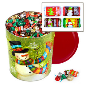 Scarf Snowman 20 lb Hershey's Holiday Mix Tin
