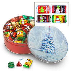 Blanket of White 2 lb Hershey's Holiday Mix Tin