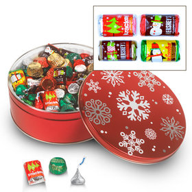 Sweet Snowflakes 3C - 3 lb Hershey's Holiday Mix Tin