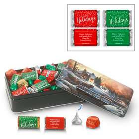 Personalized Heading Home 1.5 lb Happy Holidays Hershey's Mix Tin