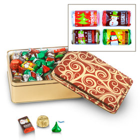Golden Swirls 3 lb Hershey's Holiday Mix Tin