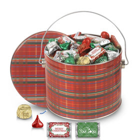Add Your Logo Perfectly Plaid 3.5lb Merry Christmas Assortment
