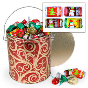 Golden Swirls 5 lb Hershey's Holiday Mix Tin
