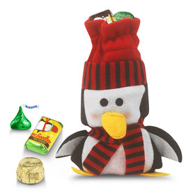 Little Red Penguin Bag 1/2lb Hershey's Holiday Mix