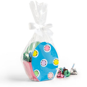 Easter Egg Container with Spring Mix Hershey's Kisses Candies