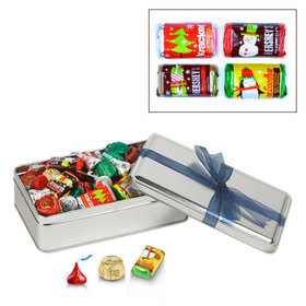 Simply Holiday with Blue Ribbon 1.5 lb Hershey's Holiday Mix Tin