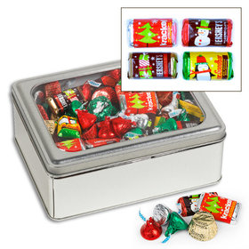 Rectangle 3 lb Hershey's Holiday Mix Tin