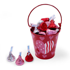 Red Heart Pail Hershey's Kisses Love Mix