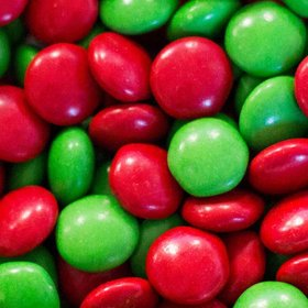 Just Candy Milk Chocolate Minis Green & Red Mix