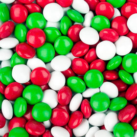 Just Candy Milk Chocolate Minis Red, Green & White Mix 2lb Bag