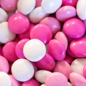 Just Candy Milk Chocolate Minis Pink, Hot Pink & White Mix 2lb Bag