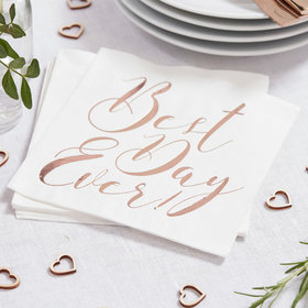 Best Day Ever Napkins - Rose Gold