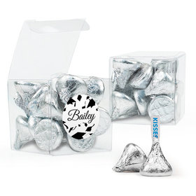 Personalized Black Graduation Favor Assembled Clear Box Filled with Hershey's Kisses
