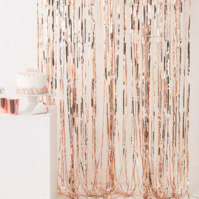 Fringe Curtain - Rose Gold