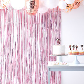Fringe Curtain - Pink
