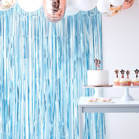 Fringe Curtain - Blue
