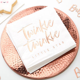 Twinkle Twinkle Napkins - Rose Gold