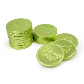 "Gerrit's ""Welcome Baby"" Green Coins 13.19oz. Net"