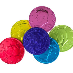Fresch Milk Chocolate Coins Rainbow Foil