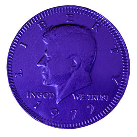 Fresch Milk Chocolate Coins Purple Foil