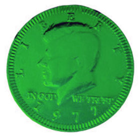 Fresch Milk Chocolate Coins Green Foil