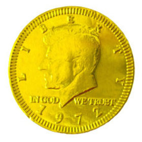 Fresch Milk Chocolate Coins Yellow Foil
