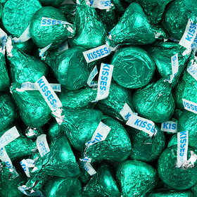 Hershey's Kisses Green Foil Candy