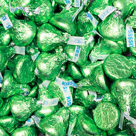 Hershey's Kisses Kiwi Green Foil Candy