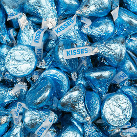 Hershey's Kisses Light Blue Foil Candy