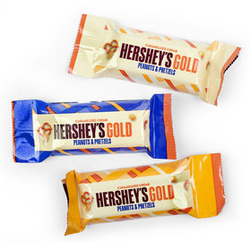 Holiday Hershey's Gold Caramelized Crme Peanuts & Pretzels Miniatures