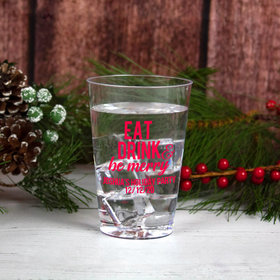 Personalized Christmas 12oz Hard Plastic Cup
