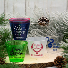 Personalized Christmas 9oz Hard Plastic Cup