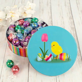 Easter Chick Tin with Assorted Lindor Truffles (25 Pieces)