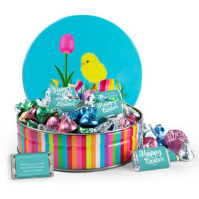 Personalized Easter Chick 3/4 lb Hershey's Easter Mix Tin