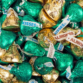 Hershey's Kisses Green & Gold Foil Candy